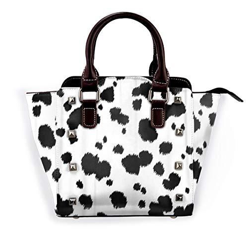 BROWCIN Spot Dalmatiner Tier Kuh Fell Hundehaut Abstract Abnehmbare mode trend damen handtasche umhängetasche umhängetasche