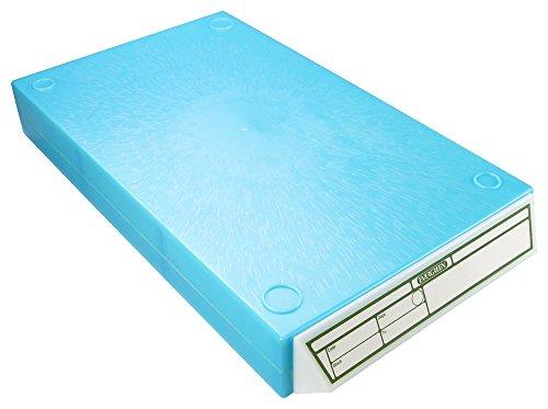Caplugs Evergreen 258-4202-B10 Cassette File Cabinet Drawers. 250 Embedding Rings or 400 Cassettes, Polystyrene, Light Blue