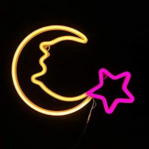 crib bedding and baby bedding night lights for kids neon signs warm white moon pink star led neon lights for baby nursery room,wall art décor usb powered children lighting for bedroom,party,christmas birthday gifts(ylx-nbf)