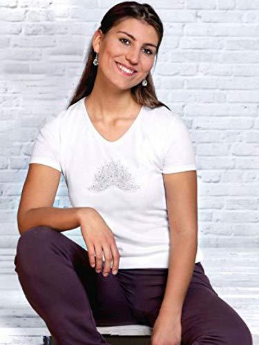 The Spirit of OM Ananda Lotus - Camiseta para mujer (talla M), color blanco