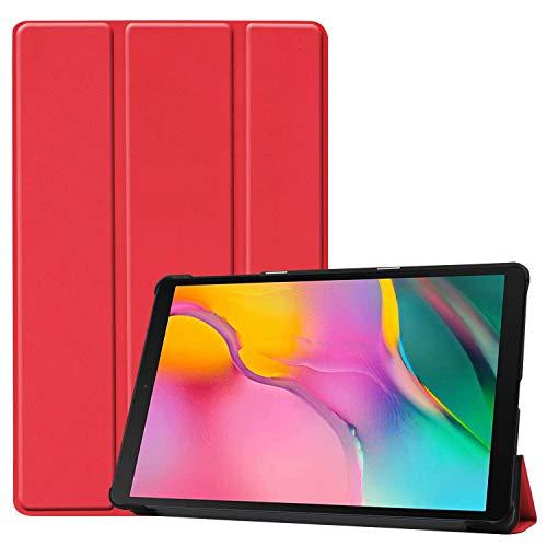 cover tablet a 10.1 HoYiXi Custodia per Samsung Galaxy Tab A 10.1 2019 Ultra Sottile Case in pelle Smart Cover con Supporto Funzione Custodia di Tablet per 10.1 Pollici Galaxy Tab A 2019 T510/T515 - Rosso