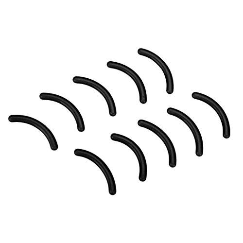 10 Stück Damen Ersatzgummi Ersatzpolster Wimpernzange Wimpernformer Pads, Bunt - Schwarz