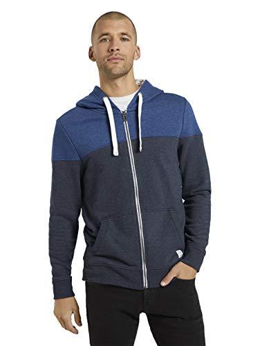 TOM TAILOR Herren Cutline Colorblock Sweatshirt, 10668-Sky Captain Blue, XL
