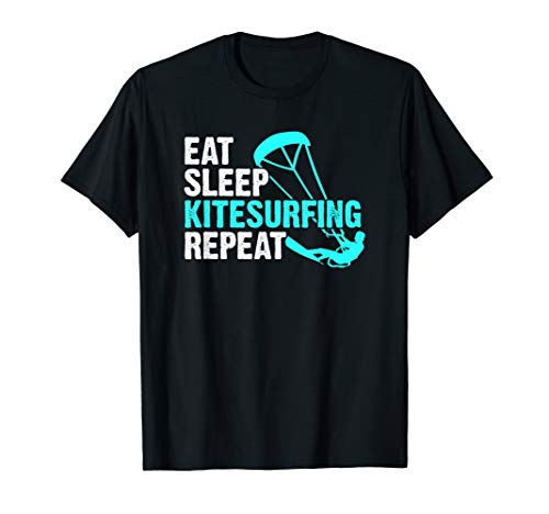 Eat Sleep Kitesurfing T-Shirt Kite Surfing Surf Surfer Shirt