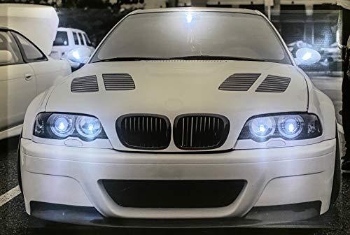 Samarkand - Lights LED-Bild mit Beleuchtung LED- Bilder Leinwandbild 65 x 45 cm Leuchtbild Auto/Sportwagen White Wandbild