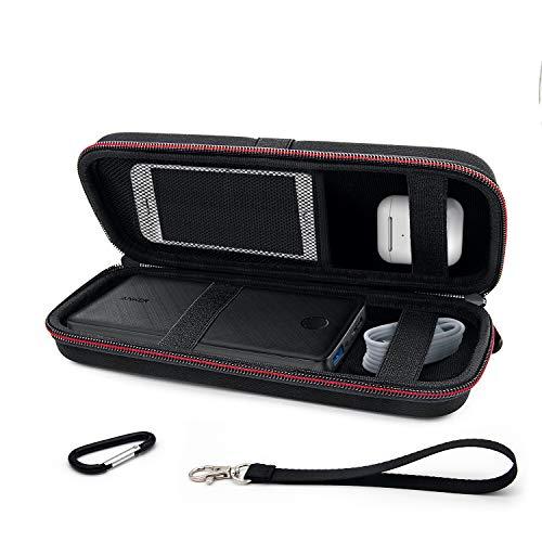 DALV Powerbank Hülle Hülle Eva Hart Tasche für Anker PowerCore 32000mAh/26800mAh/20100mAh, Elektronik Organizer Kabeltasche, Externer Akku, Festplatte, Kopfhörer, USB Kable, Powerbank Schutzhülle