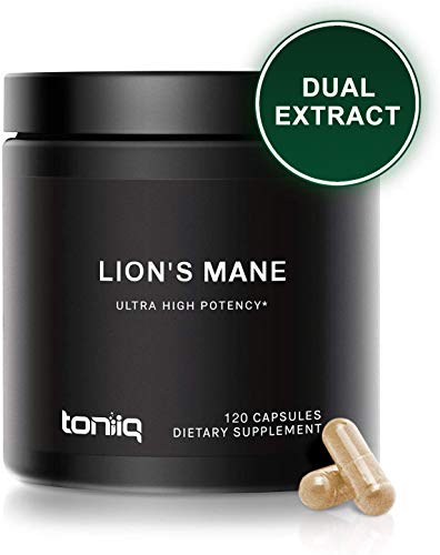 Ultra High Strength Lions Mane Extract - 1800mg 10x Concentrated with 30% Polysaccharides - The Strongest Lions Mane Mushroom Capsules Available - 120 Capsules