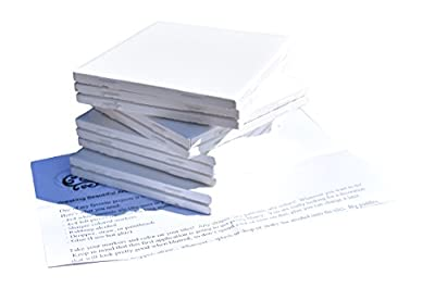 Glossy Ceramic Tiles 4 1/4 By 4 1/4 Each Plus Exclusive 2 Page Guide for Tile Crafts (Set of 10)