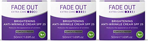 Fade Out Brightening Anti-Wrinkle Cream SPF 25 - Clinically Proven Face...
