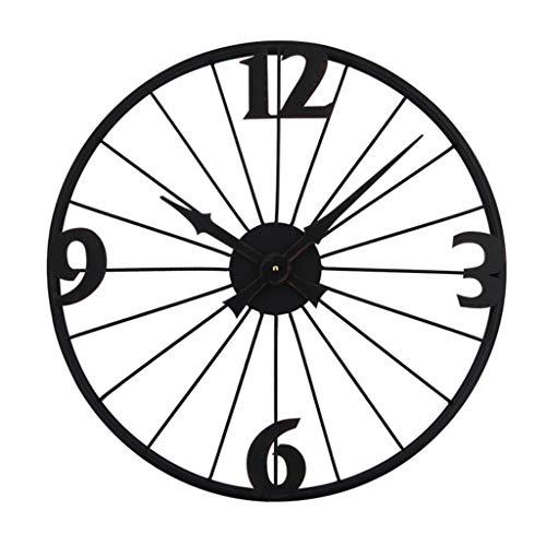 ZAJ Reloj de Pared Inicio de la Sala del Reloj de Pared Personalizado Retro del Estilo del Reloj Industrial Dormitorio Reloj de Pared Decoración Habitación (tamaño : Medium)