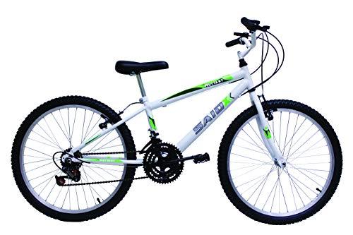 Bicicleta Aro 24 Masculina 18 Marchas Said-x (Branco)