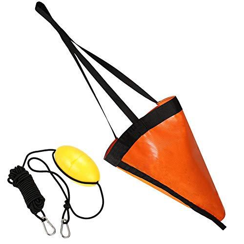 Liadance Calcetines de Deriva Pesca en Kayak de mar de la boya 24 Pulgadas Barco Ancla Drogue para 2pcs Lago del río del océano Anclaje Trolling Bolsa de Orange