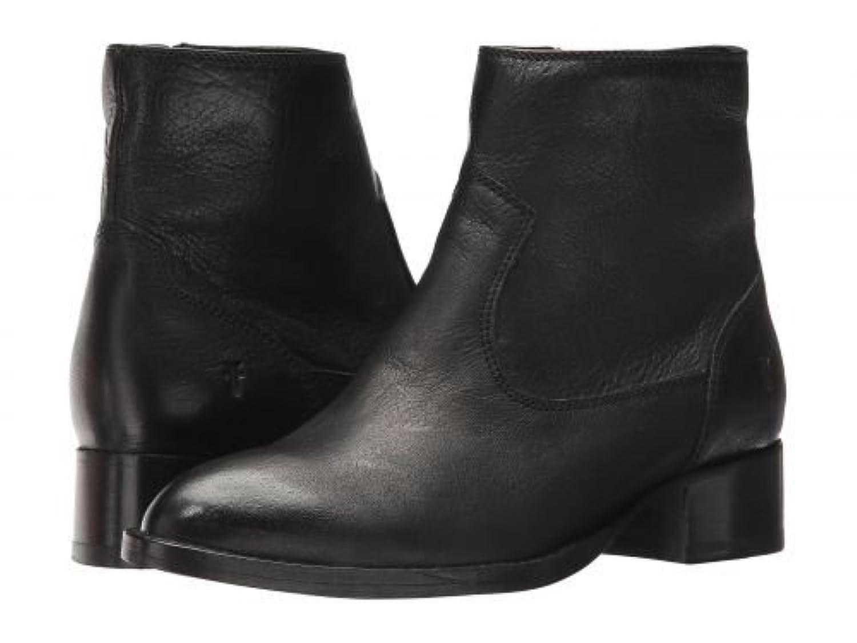 Frye(フライ) レディース 女性用 シューズ 靴 ブーツ アンクルブーツ ショート Brooke Short Inside Zip - Black 7.5 B - Medium [並行輸入品]
