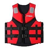 Giubbotto Salvagente Adulti Salvataggio Professionale Unisex Kayak Giacca Ausiliaria Nuoto Bambini per Pesca,Canottaggio,Galleggiamento,Sport Acquatici,Snorkeling, Immersioni Mare, CE,Rosso,XL