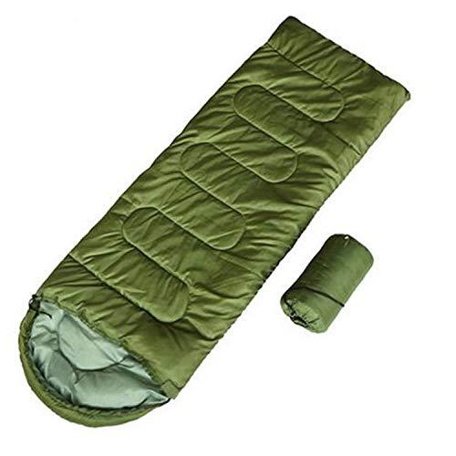DLSM Sac de couchage individuel chaud et imperméable pour adulte ultra-léger sur gros sac de couchage en plein air Vert
