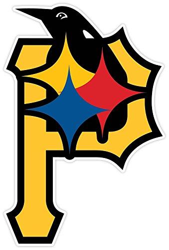 Pittsburgh Fan Sport Custom Logo 3 in 1 (Bumper Sticker for Windows, Cars, Trucks, Laptops) (4