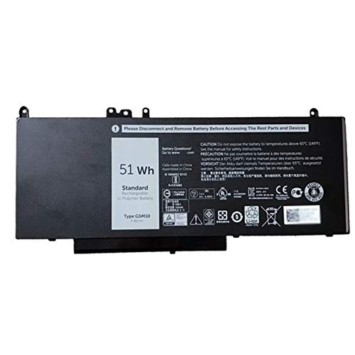 Dentsing G5M10 51Wh 7.4V Battery for Dell Latitude E5450 E5550 Laptop R9XM9 8V5GX