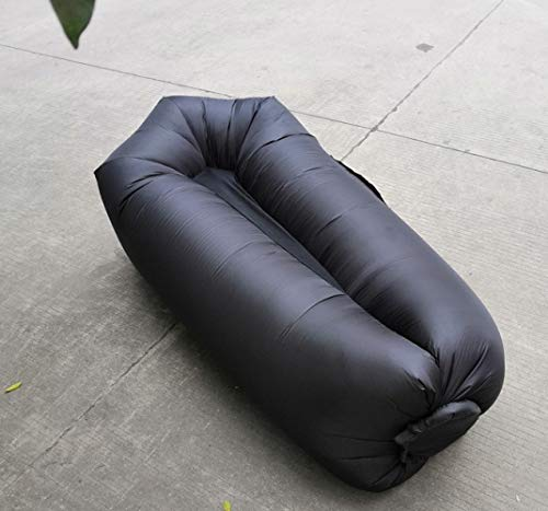 TONGS Resistente al agua, inflable, romper el almuerzo, con bolsa de viaje, hamaca perezosa, portátil, hinchable, sofá cama, bolsa para dormir, fácil de usar