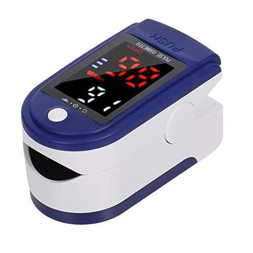 azorex Oxímetro de Dedo Digital Monitor de Ritmo Cardíaco Pulsioxímetro de Dedo con Pantalla OLED para Medición de SpO2 para Viajes Deportivos