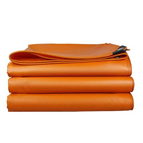 GYYARSX Lonas Lona Alquitranada PVC Espesar Sombra Proteccion Solar Impermeable Resistencia Al Frío Paño Ignífugo, Usado for Almacén, Pastar, Naranja, 16 Tamaños (Color : Orange, Size : 2.8X3.8M)