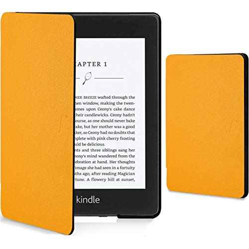 Forefront Cases Kindle Paperwhite 2018 Cover - Custodia Protettiva Magnetica Smart Auto Sleep Wake per Amazon Kindle Paperwhite (10ª generazione - modello 2018) - Sottile Elegante Leggera - Giallo
