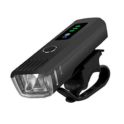 YZSL USB Opladen Inductie Fiets Koplamp, met Batterij Capaciteit 1500mAh, LED Waterdichte Mini Fiets Koplamp, met 250 Lumen, Geschikt voor Outdoor Rijden, Zwart
