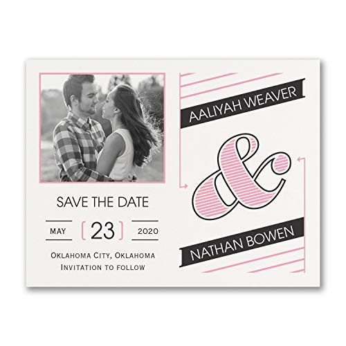 125pk Great Type - Photo Save The Date-Save The Date Magnets