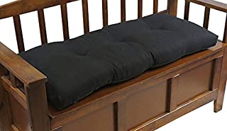 "Klear Vu The Gripper Non-Slip Tufted Omega Universal Bench Cushion, Midnight, 36"""