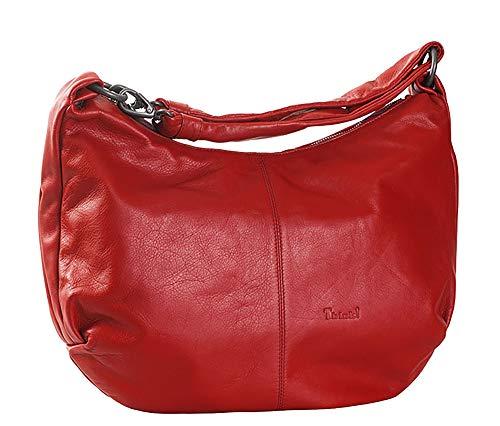 Think! Damen Handtasche Lederhandtasche 85800 (Rot (70 rosso))