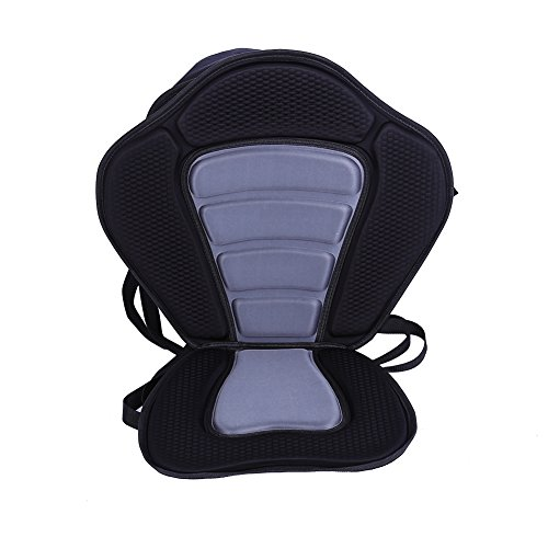 Kayak Backrest Boating Seat,Luxury Adjustable Padded Kayak Seat Back With Detachable Canoe Backrest Seat Bag