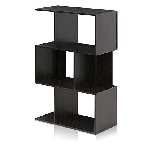 FURINNO Simply Modern 3Tier Open Book Shelf