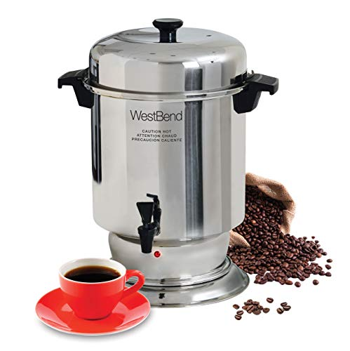 West Bend 13550 55 Cup Commercial Stainless Steel Coffeemaker (Discontinued by Manufacturer)