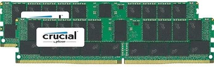 Crucial Technology 64GB (2X 32GB) 288-Pin RDIMM DDR4 (PC4-21300) Memory Module Kit, CL19, Registered, 2666 MT/S Speed, ECC, 1.2V, 4096Meg x 72, Dual Ranked, x4 Based