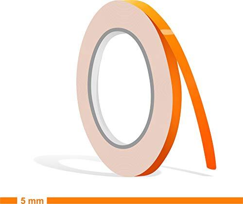 Siviwonder Zierstreifen neon orange in 5 mm Breite und 10 m Länge für Auto Boot Jetski Modellbau Klebeband Aufkleber Dekorstreifen Folie Neonorange Neonaufkleber Fluor