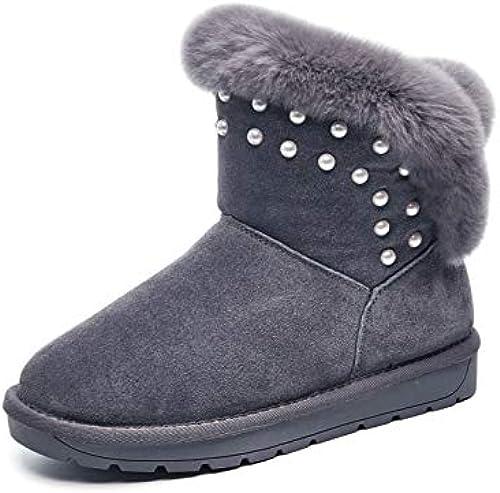 AGECC Stiefel De Nieve De Tubo Corto Terciopelo De Invierno Stiefel Cortas Cuero Fondo Plano schuhe De Algodón Caliente.