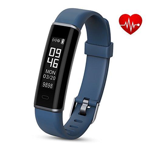 Shinmax Fitness Armband,Fitness Tracker mit Pulsmesser Schlaf-Monitor,Wasserdicht