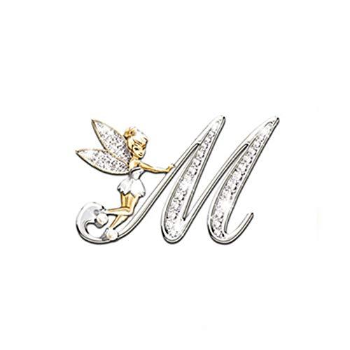 CHEN-C Isolations-Tischset New Metal Kristall Englisch Brief Brosche Kleine Revers Kleine Klage-Kleidung-Hemd-Kragen-Pin Pin Damen Accessoires Für Küchentische (Metal Color : RED)