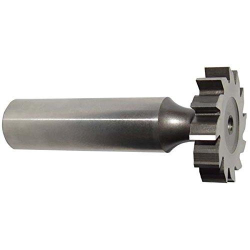 KEO 64040 High-Speed Steel Woodruff Keyseat Cutter, Uncoated (Bright) Finish, Round Shank, 1/2