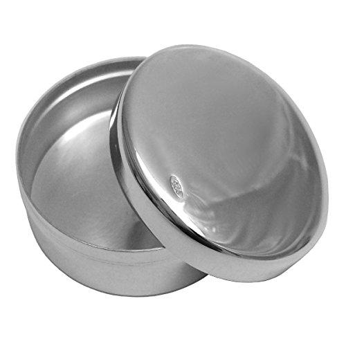 SILBERKANNE Zahndose, Haardose, Pillendose rund 3,5 cm 2 TLG Silber 925 in Premium Verarbeitung