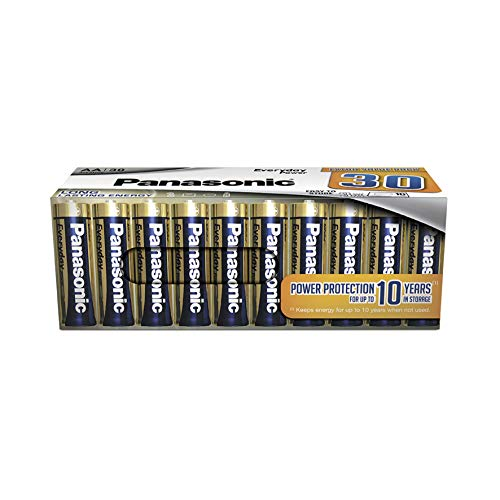 Panasonic EVERYDAY POWER Alkaline Batterie, AA Mignon LR6, 30er Pack in plastikfreier Verpackung, 1.5V, für zuverlässige Energie, Alkali-Batterie