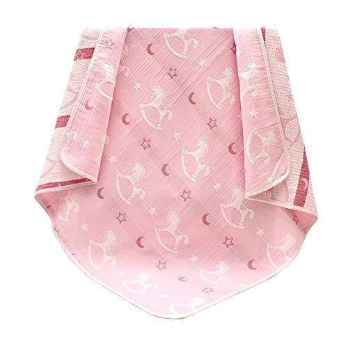 Happy Cherry - Couverture en Mousseline de Coton pour Bébé Nouveau-né Doux Respirant Berceuses Confortables pour Cadeau de Ppoussette de lit pour Nouveau-né