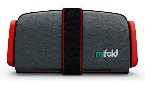 mifold Auto-Kindersitz Grab-and-Go-Booster, portabel, faltbare mobile und kleine Sitzerhöhung, Gruppe 2/3, dunkelgrau