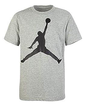 Nike Air Jordan Boy s Jumpman Logo T Shirt  Gray Large