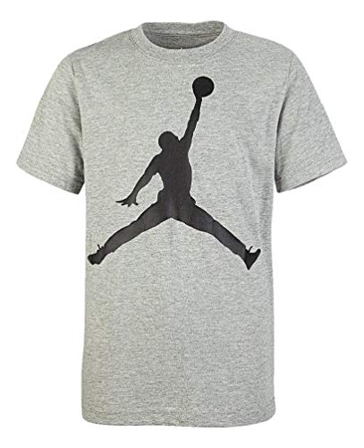 Nike Air Jordan Boy's Jumpman Logo T Shirt (Gray, Medium)