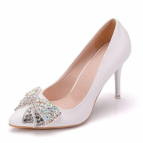 Zapatos De Boda para Mujer, Tacones De Aguja Zapatos De Novia Bombas...