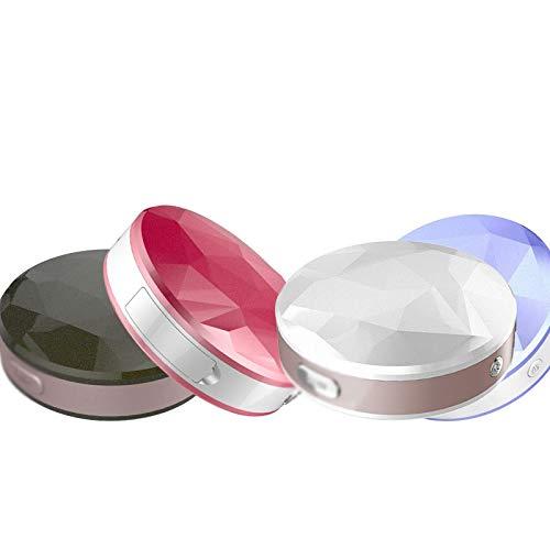 LQXZJ Gesichtsfeuchtigkeitsdampf-Nanosspray-Instrument mit einem Spiegel zur Förderung der Porenreinigung und der Feuchtigkeit (Saphir) (Color : Black)
