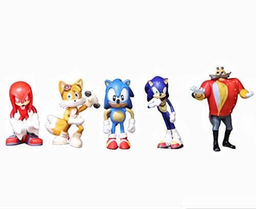 YUMEI regalo 5 unids/lote Sonic Anime Juego Figura de Acción Juguetes para Pop PVC Muñecas Coleccionables Modelo Sin Caja Niños Regalo de Cumpleaños