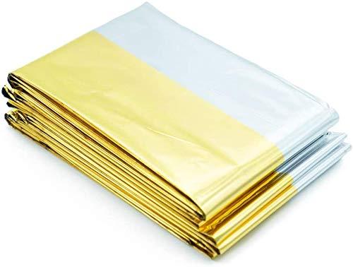 Rettungsdecke 20er Set Notfalldecke Rettungsfolie (160 cm x 210 cm, silber/gold)