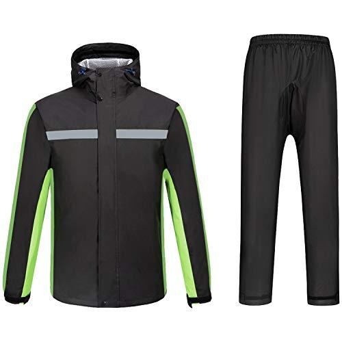 7VSTOHS Set di Pantaloni da Uomo con Giacche Impermeabili Divide Impermeabili Giacche da Ciclismo Pantaloni Tute per Tempo Umido