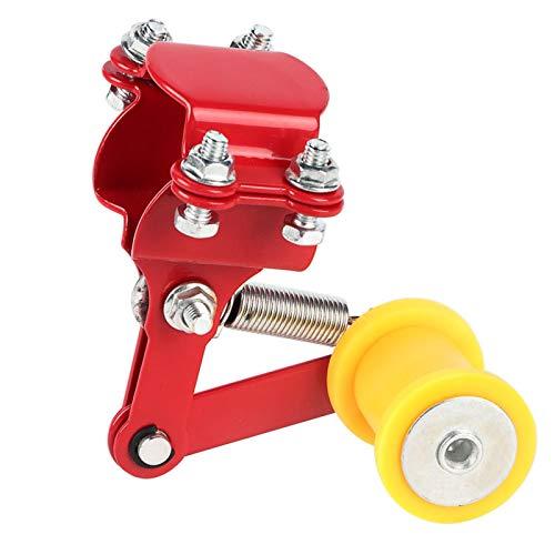Tensor de Cadena de Motocicleta Perno de Ajuste Universal en Guía de Rodillo Accesorios de Motocicleta Ajustables 3,7-4,3 Cm/1,46'- 1,69'(rojo)